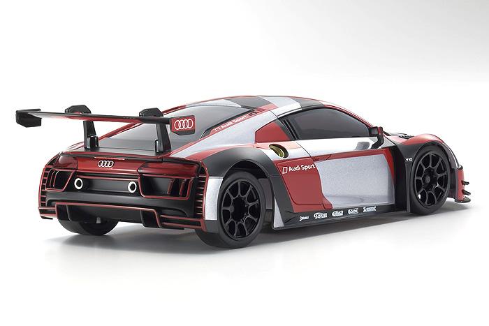 Kyosho Mini Z Mr03 Rwd Audi R8 Lms 2016 Grey Red Ready Set