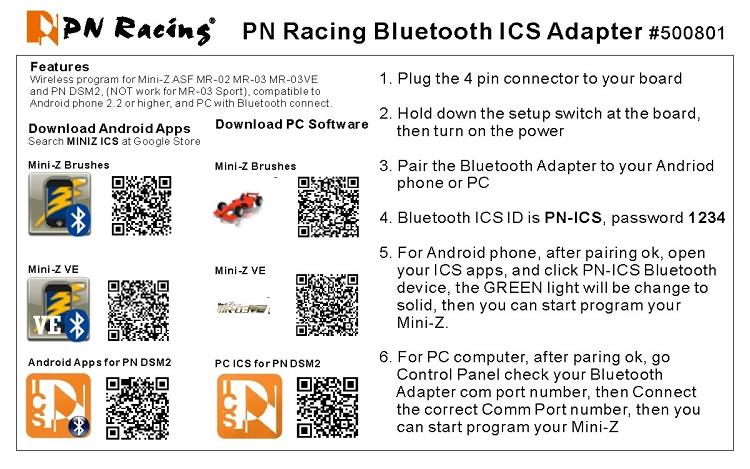 PN Racing Bluetooth ICS Adapter