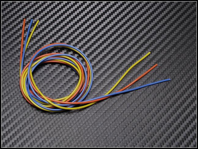 PN Racing Mini-Z 22AWG Silicon Wire (Orange/Yellow/Blue @3ft)