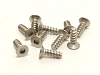 PN Racing M2x6 Titanium Countersunk Hex Tapping Screw (10pcs)