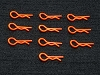 PN Racing Ultra Body Clip 10pcs (Orange)
