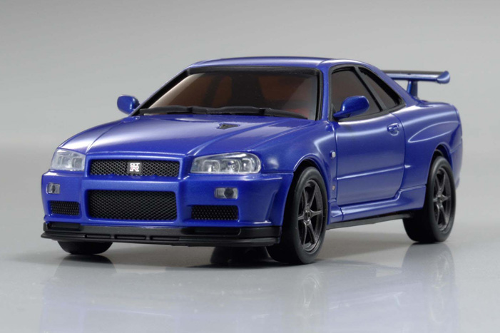 Kyosho Dnano Fx 101mm Nissan Skyline Gt R V Spec Ii Nur Metallic Blue R34 Body Set