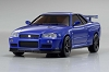 Kyosho dNaNo FX-101MM Nissan Skyline GT-R V-Spec II Nur Metallic Blue (R34) Body Set