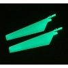 E-flite MCX Lower Main Blade Set, Glow in the Dark (1 pr)
