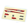 E-flite MCX Decal Sheet, Red Graphics