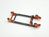 PN Slot Slot Car V2 Flex Carbon Motor Mount (Orange)