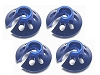 3Racing Revo Spring Bottom Cap For Revo ( 4 Pcs ) - Blue