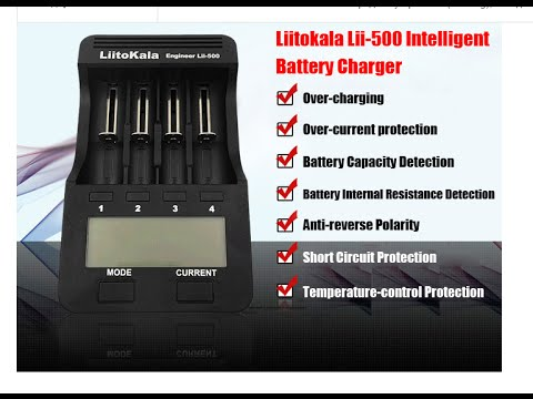 LiitoKala Smart Universal Charger US Plug for Li-Ion NiMH NiCd Batteries