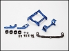 PN Racing Mini-Z MR02/03 93-102mm Multi Motor Mount (Blue)