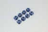 Kyosho Nut (M4x5.6) Flanged Nylon (Steel/Blue/8pcs)