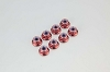 Kyosho Nut (M4x5.6) Flanged Nylon (Steel/Red/8pcs)