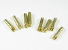 PN Racing 4.0mm Gold Plated Connector Male & Female Bulk (@4pcs)