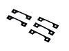 PN Racing Interchangeable Front Body Mount Spacer Kit (1.0mmx2 0.5mmx3)