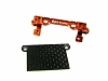 PN Racing Mini-Z MR02/03 V2 Double A-Arm Upper Bracket (Orange) with MR03 Lower Carbon Cover