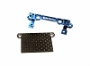 PN Racing Mini-Z MR02/03 V2 Double A-Arm Upper Bracket (Blue) with MR03 Lower Carbon Cover