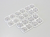 Kyosho Mini-Z 2WD Multi Offset Wheel SetII(White/RAYS RE30/20pcs)
