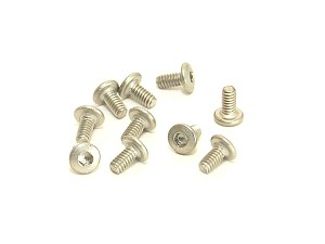 PN Racing M2x4 Titanium Button Head Hex Machine Screw (10pcs)