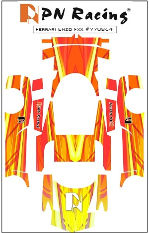 PN Racing Mini-Z Body Skin Ferrari ENZO FXX Type 4