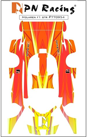 PN Racing Mini-Z Body Skin McLaren F1 GTR Type 4