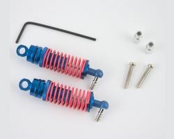 Hot Racing RC18T Blue alum front threaded shock set