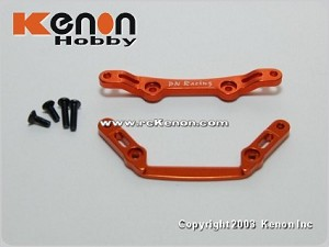 PN Racing Mini-Z MR02 Alm Front Tower Bar Set (MR02 1.0 Caster) Orange
