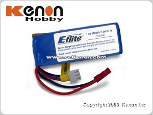 E-flite CX2 7.4V 800mAh 2-Cell Li-Po Battery