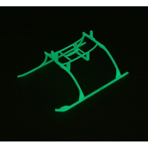 E-flite MCX Landing Skid & Battery Mount Set, Glow in the Dark