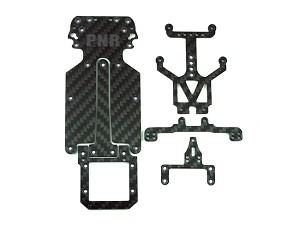 PN Racing Graphite Conversion Kit for Jomurema GT01 Chassis (6pcs)