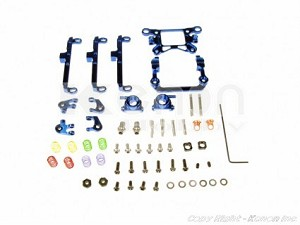 PN Racing Mini-Z MA010 A-Arm Front Suspension Kit (Blue)