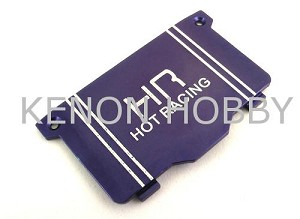 Hot Racing Micro-T Alum. Heat sink Battery Cover ( blue )