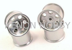 Hot Racing Micro-T Alum. Wide Offset 6 Holes Wheel Set ( silver )