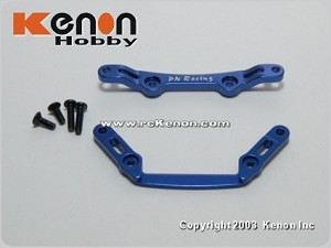 PN Racing Mini-Z MR02 Alm Front Tower Bar Set (MR02 1.5 Caster) Blue