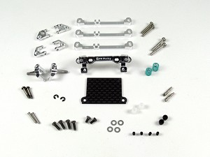 PN Racing Mini-Z V3 MR03/PNR2.5W Double A-Arm Front Suspension (Silver)