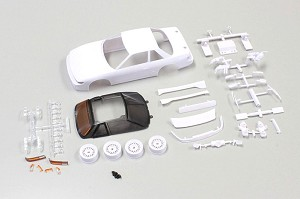 Kyosho Mini-Z AWD NISSAN SILVIA S13 White Body Set (With AWD Wheel)