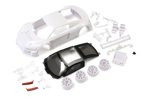 Kyosho Mini-Z MM Audi R8 LMS 2015/16 White Body Set (w/2WD Wheels)