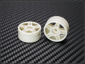 PN Racing Mini-Z Buggy Laser Star Front Wheel White (2pcs)