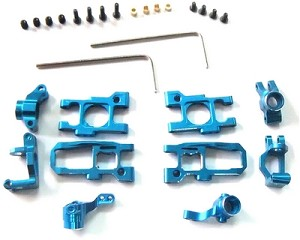 Hot Racing Blue Alum. Suspension Set Mini-Z Buggy