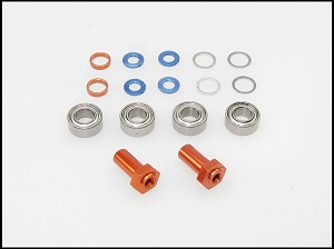 PN Racing Mini-Z 2WD Multi Offset Front Axle Hub (Orange)