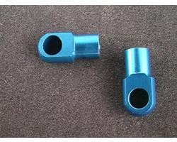 Hot Racing Revo Blue aluminum shock ends