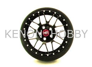 Hot Racing 8 Double Spoke Steering Tx Wheel (Black)