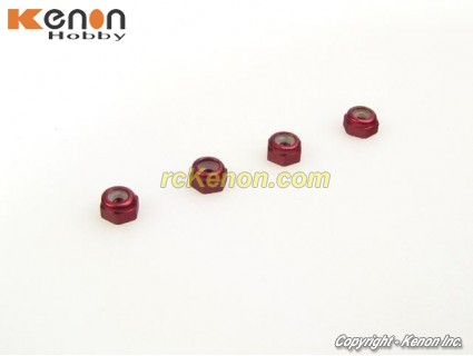 for Kyosho Mini-Z Red Blue Purple Pack of 12 Aluminum Wheel Lock Nuts