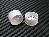 PN Racing Mini-Z AWD Machine Cut BBS Rear  Wheel R3 White