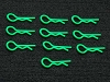 PN Racing Ultra Body Clip 10pcs (Green)