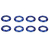 Team Losi Wheel Rings Blue (8) for Micro Rock Crawler