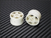PN Racing Mini-Z Buggy Laser Star Rear Wheel White (2pcs)