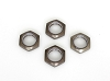 Kyosho 17mm Wheel Nut with Nylon (Gun Metal 4pcs)