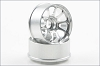 R246 Mini-Z MR015/02/03 Rays CE28N Silver Front Wheel 1.5mm Offset