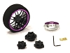 Evolution XIV Steering Wheel Set for Most HPI, Futaba, Airtronics, Hitec & KO (PURPLE & BLACK)