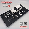 HRC One Model Honda Civic Type-R EK9 White Body Set