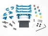 PN Racing Mini-Z V4 MR03/PNR2.5W Double A-Arm Front Suspension (Blue)